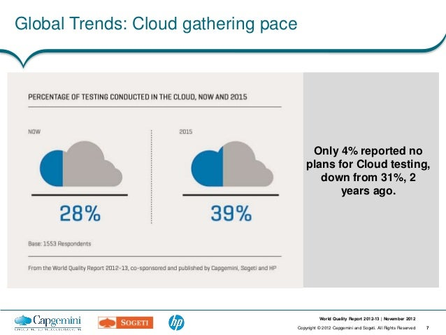 Global Trends: Cloud gathering pace                                           Only 4% reported no                         ...