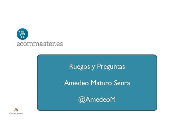 Ruegos y Preguntas Amedeo Maturo Senra @AmedeoM