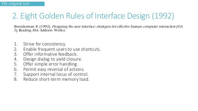 Interface Design The Golden Rules Of User Interface Design
