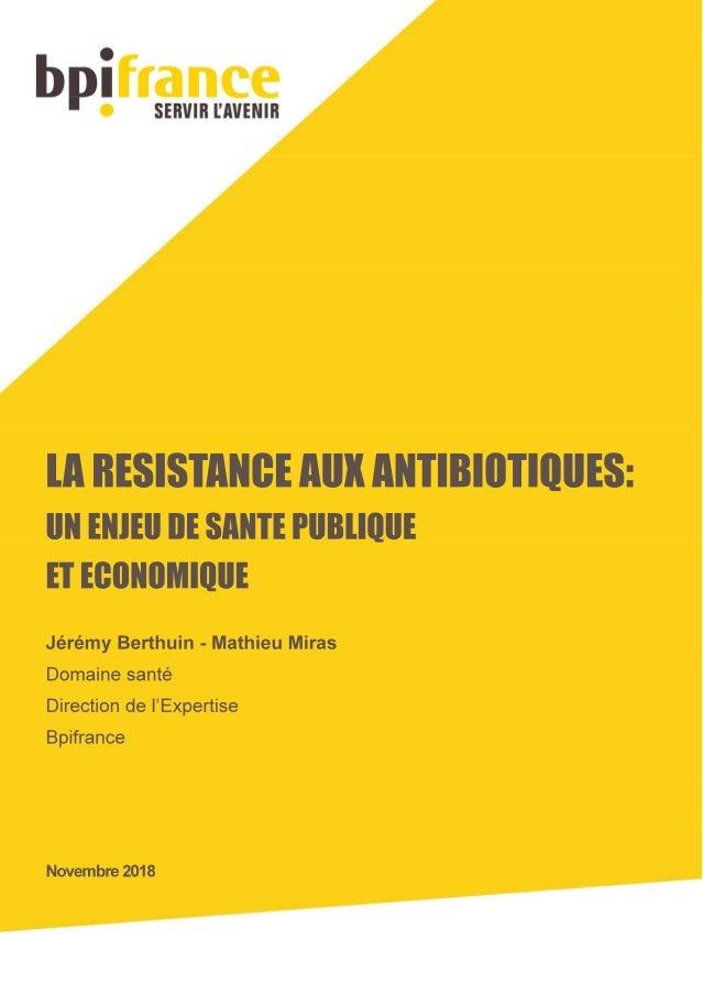 L'antibiorésistance un enjeu de santé publique et économique