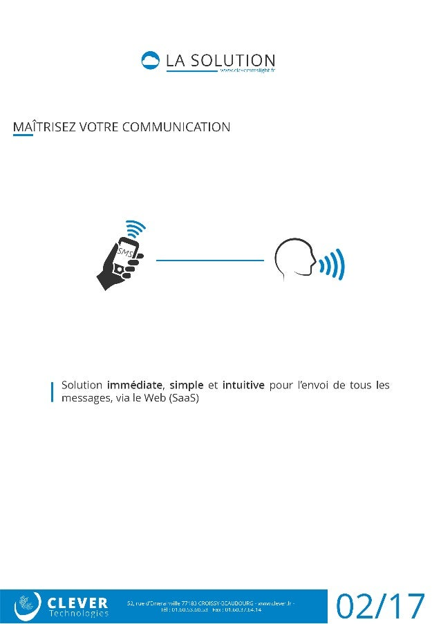 Plateforme SMS par internet | CleverSMS Light Slide 2