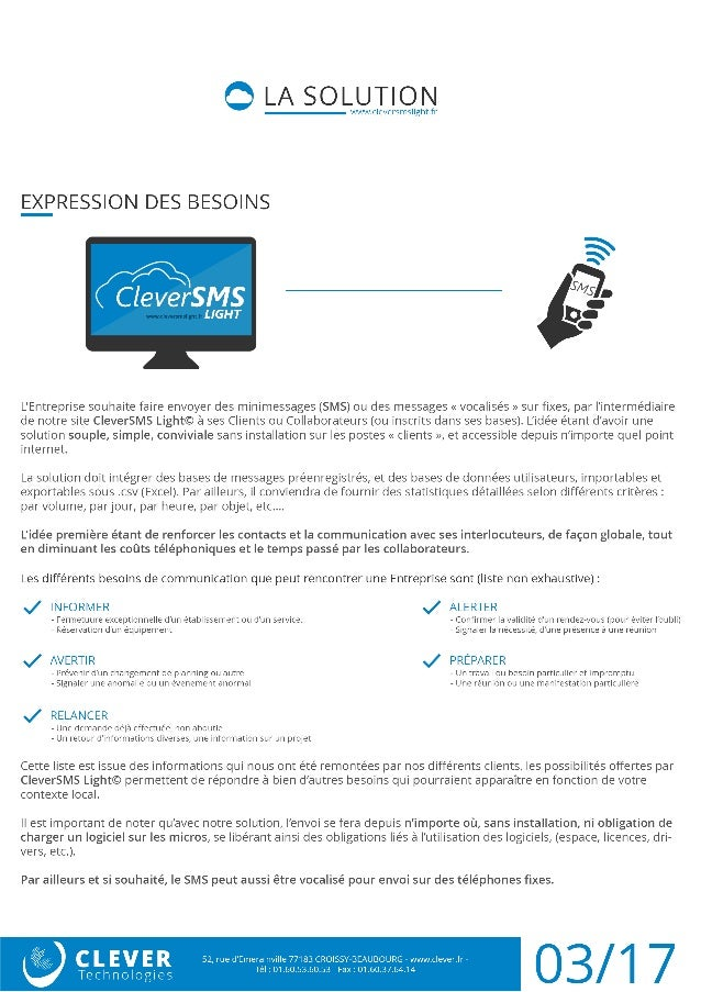 Plateforme SMS par internet | CleverSMS Light Slide 3