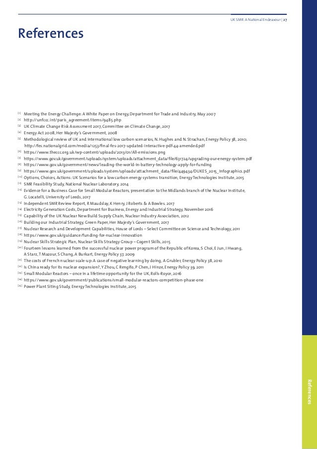 References References [1]  Meeting the Energy Challenge: A White Paper on Energy, Department for Trade and Industry, May ...