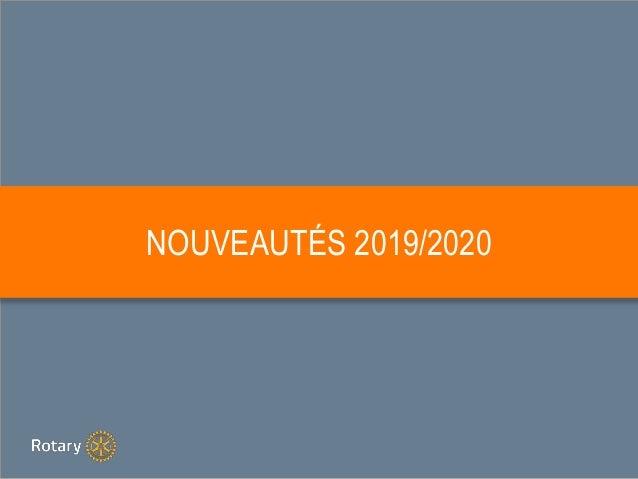 NOUVEAUTÉS 2019/2020