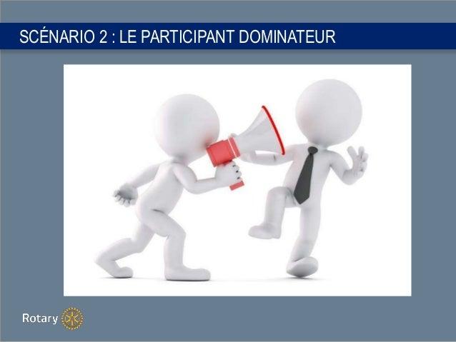 SCÉNARIO 2 : LE PARTICIPANT DOMINATEUR