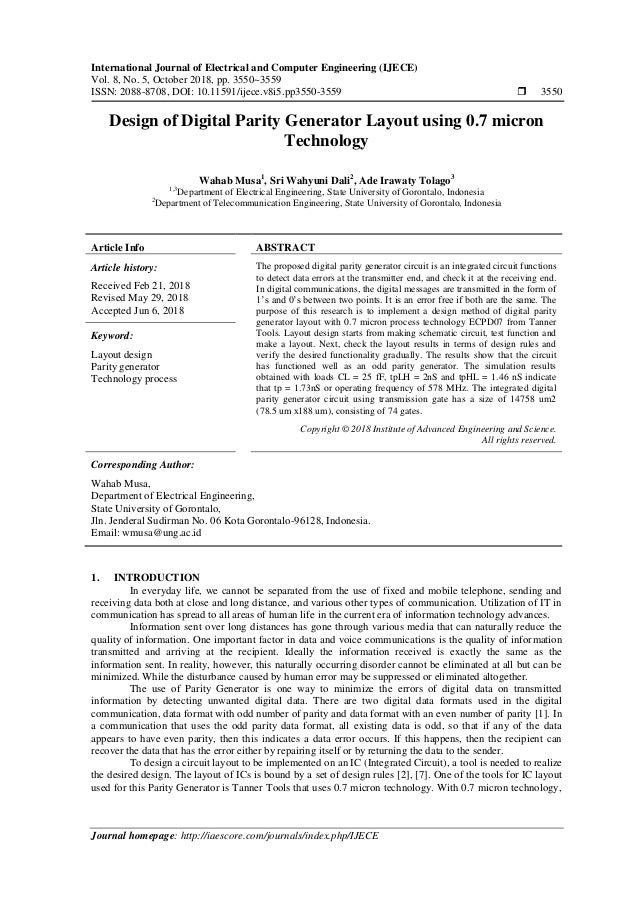 International Journal of Electrical and Computer Engineering (IJECE) Vol. 8, No. 5, October 2018, pp. 3550~3559 ISSN: 2088...