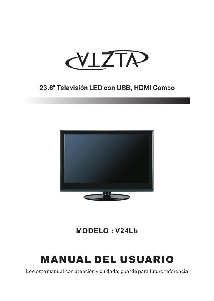Manual Tv lcd Vizta  V24 lb