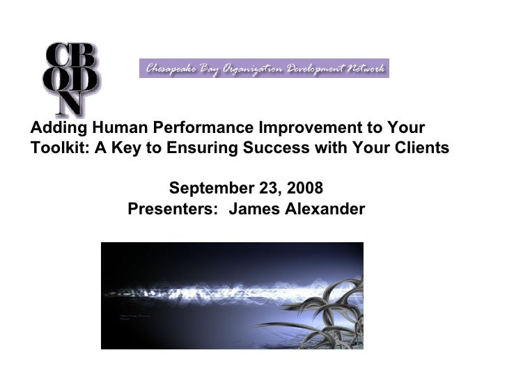 introduction to human performance technology Performance improvement (pi) is a method for analyzing performance problems and setting up systems to ensure good performance pi is applied most effectively to groups of workers within the same organization or performing similar jobs.