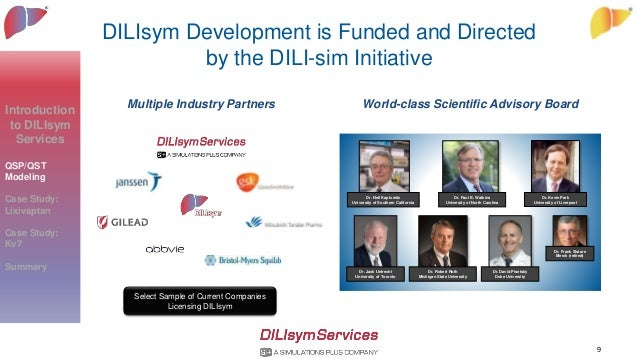 DILIsym Development is Funded and Directed by the DILI-sim Initiative 9 Multiple Industry Partners World-class Scientific ...