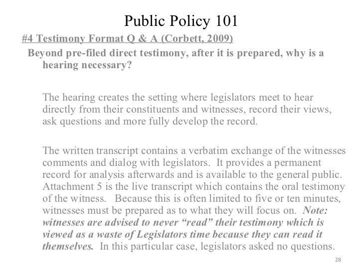 public policy resumes