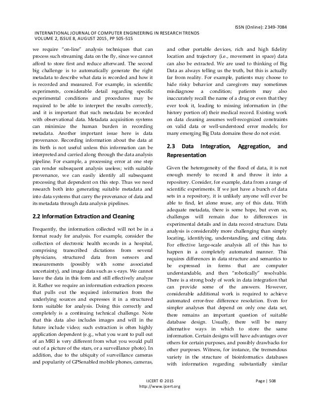 ISSN (Online): 2349-7084 INTERNATIONAL JOURNAL OF COMPUTER ENGINEERING IN RESEARCH TRENDS VOLUME 2, ISSUE 8, AUGUST 2015, ...