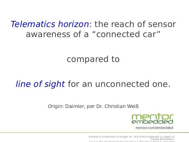"""The """"Telematics Horizon"""" V2V and V2I Networking Slide 2"""
