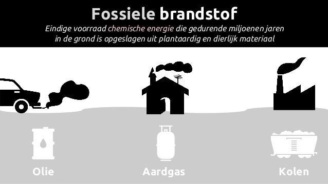 Fossiele brandstof Eindige voorraad chemische energie die gedurende miljoenen jaren in de grond is opgeslagen uit plantaar...