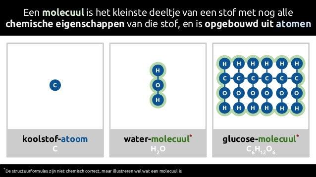 Een molecuul is het kleinste deeltje van een stof met nog alle chemische eigenschappen van die stof, en is opgebouwd uit a...