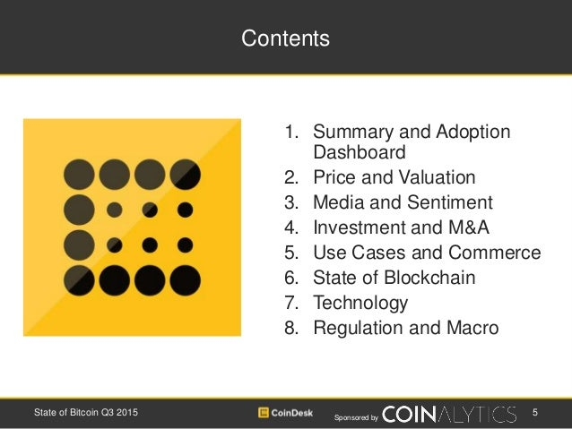 Sponsored by Contents 1. Summary and Adoption Dashboard 2. Price and Valuation 3. Media and Sentiment 4. Investment and M&...