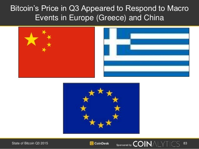 Sponsored by Bitcoin's Price in Q3 Appeared to Respond to Macro Events in Europe (Greece) and China State of Bitcoin Q3 20...