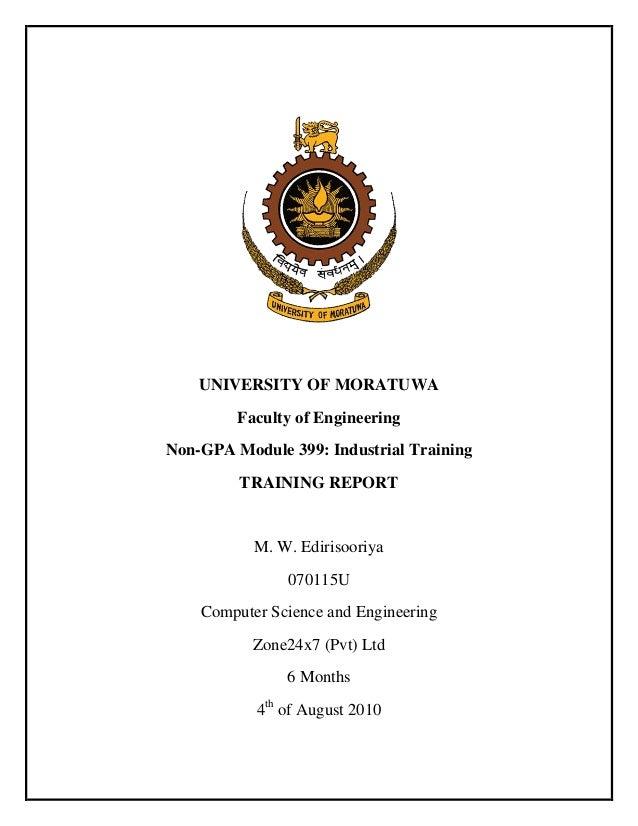industrial training report sample pdf