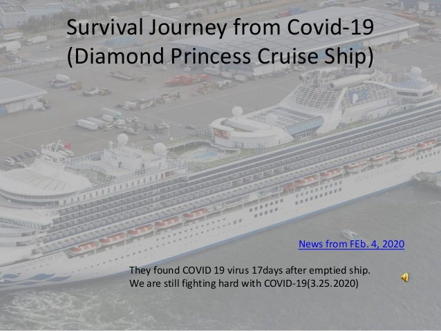 Survival Journey from Covid-19 (Diamond Princess Cruise Ship) They found COVID 19 virus 17days after emptied ship. We are ...