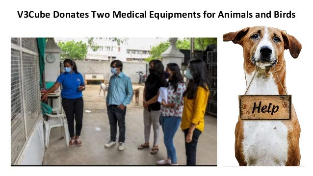 V3Cube Donates Two Medical Equipments for Animals and Birds