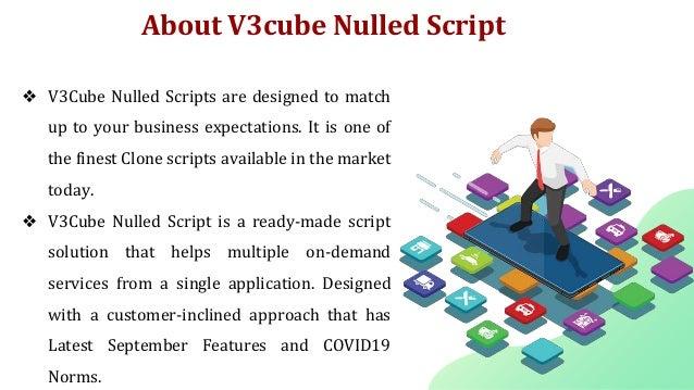 V3cube nulled script on demand app development Slide 2