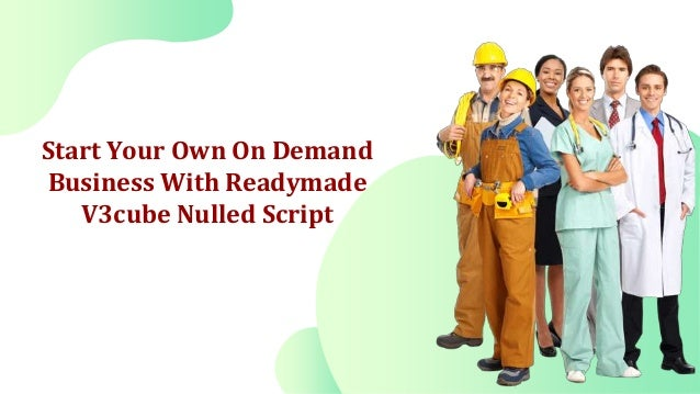 V3cube nulled script on demand app development Slide 3