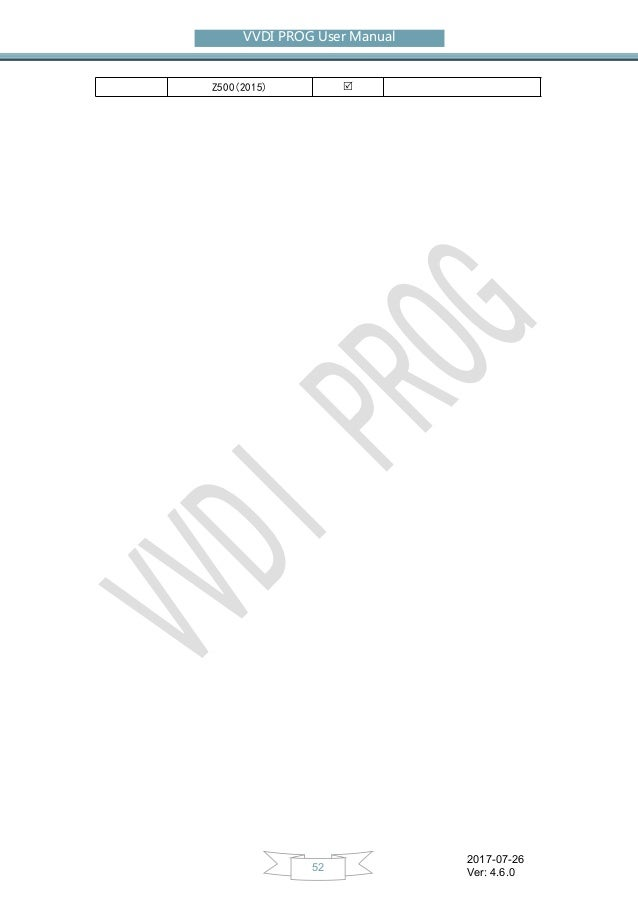 V4.6.0 VVDI Prog Programmer User Manual