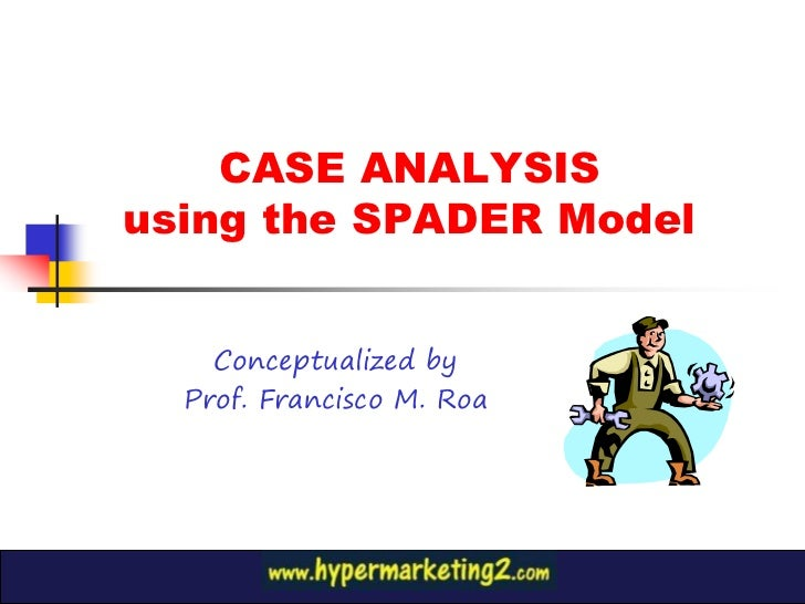 CASE ANALYSISusing the SPADER Model    Conceptualized by  Prof. Francisco M. Roa