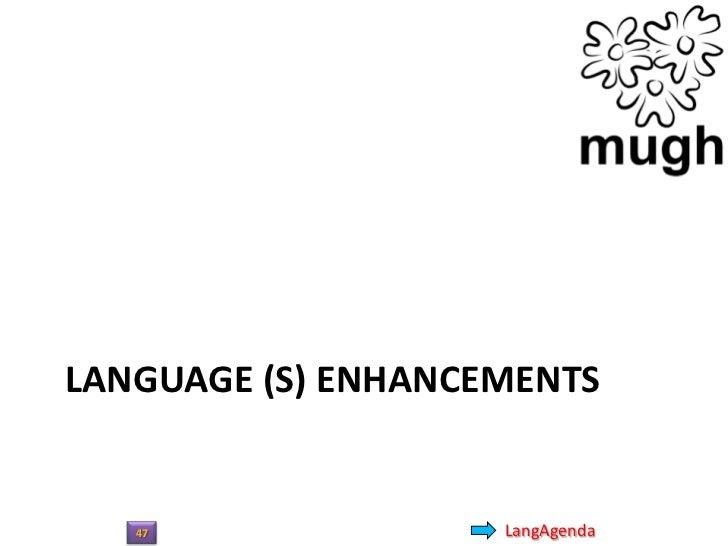 Agenda• Scope  –   UI  –   Web Space  –   Middleware  –   Data  –   Language(s)       •   BCL       •   C# 5.0       •   V...