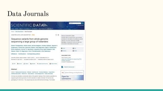 Data Journals