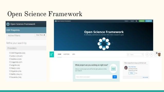 Open Science Framework