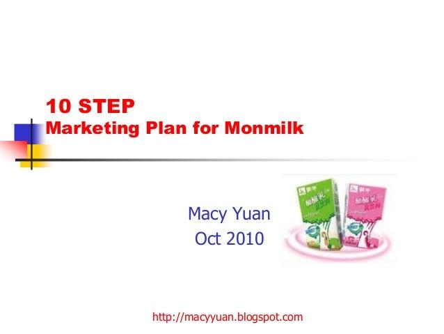 http://macyyuan.blogspot.com 10 STEP Marketing Plan for Monmilk Macy Yuan Oct 2010
