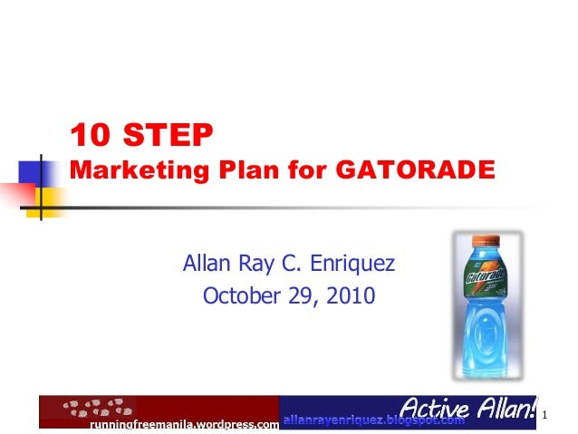 marketing plan of gatorade I need assistance with composing a growing marketing plan for gatorade, a company of pepsico i have attached all of the specifics required references: wwwgatorade.