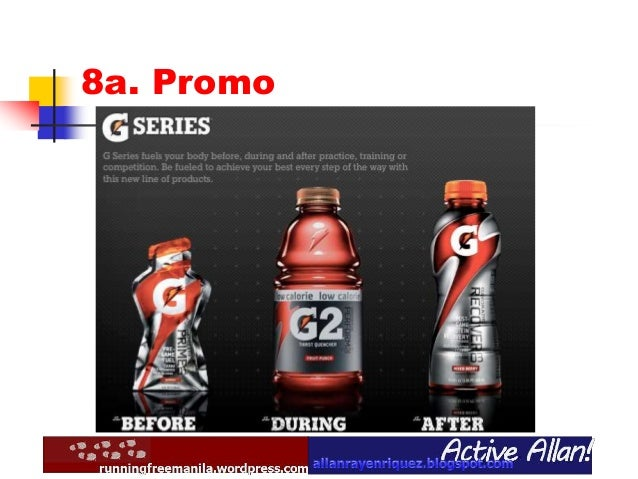 gatorade marketing strategies Pepsico is the second largest food and beverage company in the  often applying similar strategies to help improve life  frito lay, gatorade and.