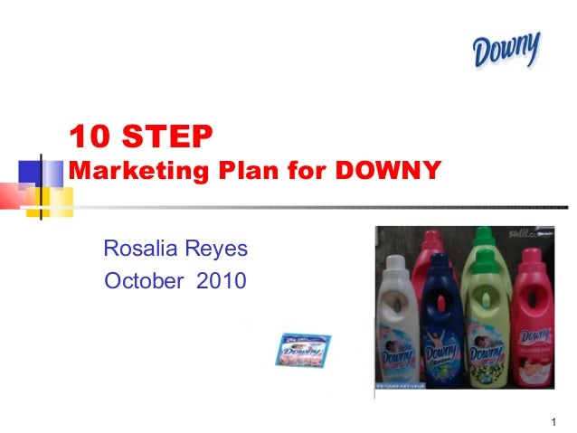 1 10 STEP Marketing Plan for DOWNY Rosalia Reyes October 2010 Product Photo here