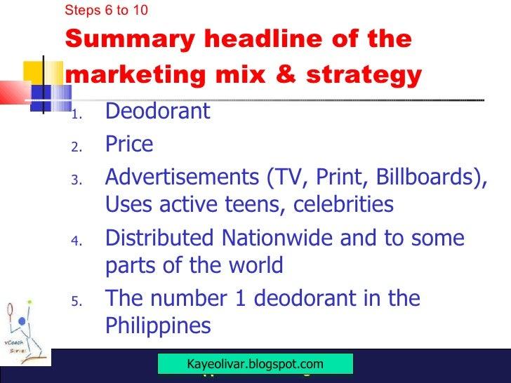 Marketing Mix Rexona