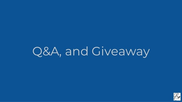 Q&A, and Giveaway
