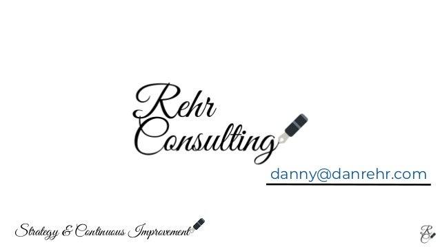 danny@danrehr.com Strategy & Continuous Improvement