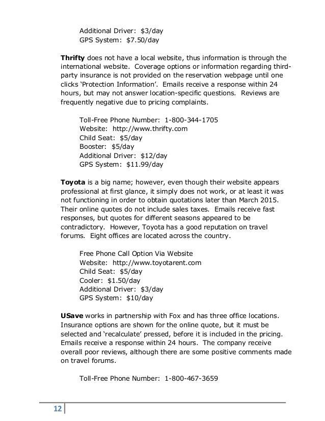 Thrifty Car Rental Costa Rica Reviews