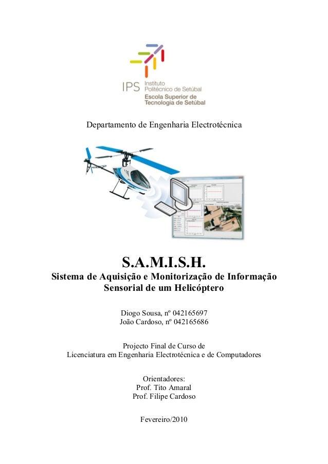 Departamento de Engenharia Electrotécnica                   S.A.M.I.S.H.Sistema de Aquisição e Monitorização de Informação...