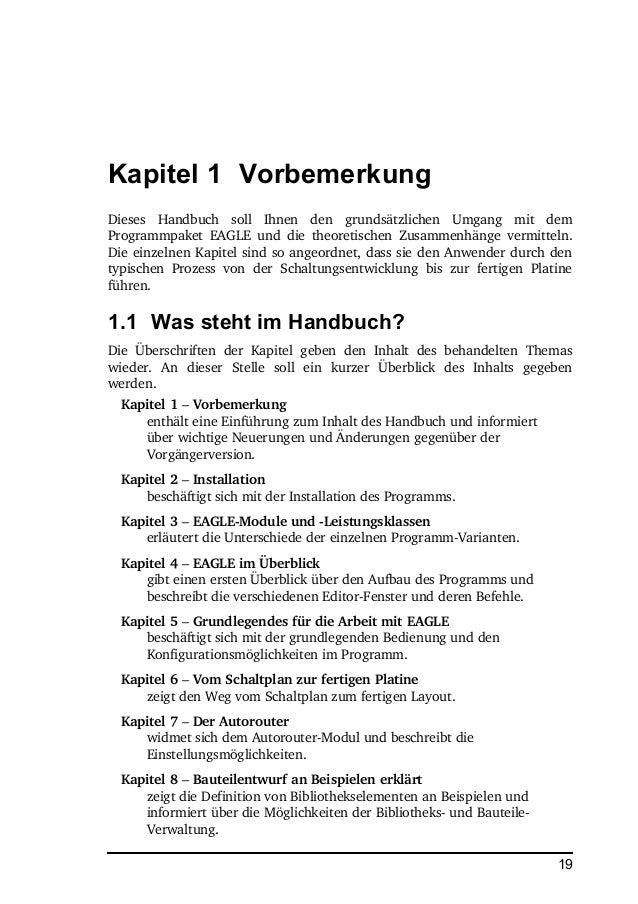 Eagle Handbuch V6 manual de - PCB-Design