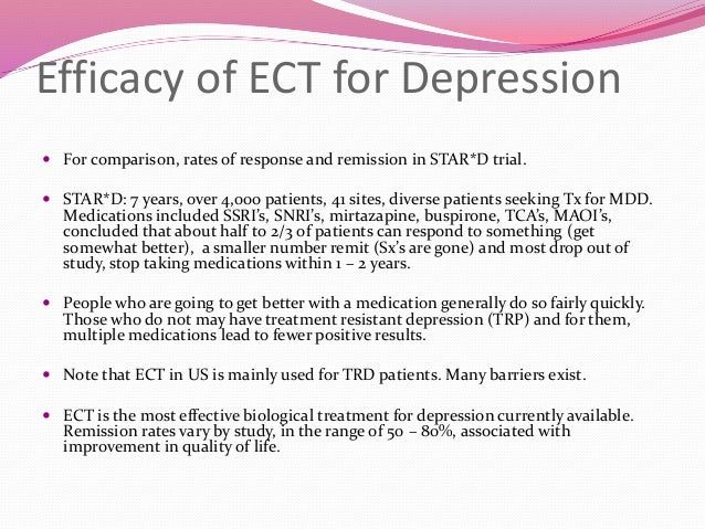 the importance of electroshock therapy in treating people with major depression Webmd explains electroconvulsive therapy,  when treating patients with major depression  what is the outlook for depression the outlook for depressed people.