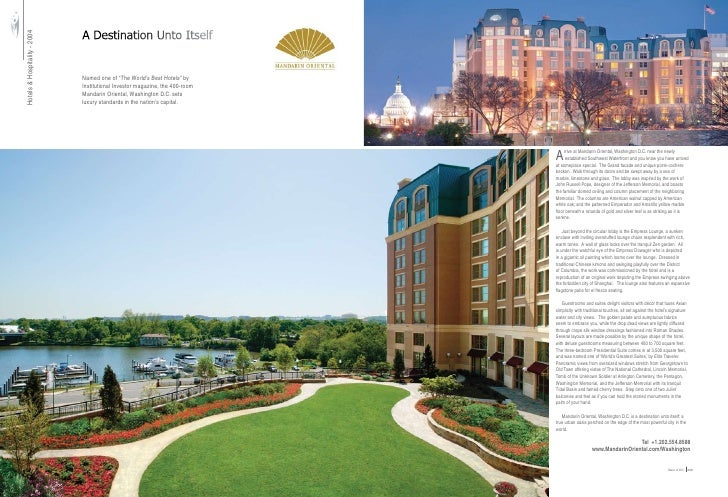 """A Destination Unto Itself Hotels & Hospitality - 2004                                                     Named one of """"Th..."""