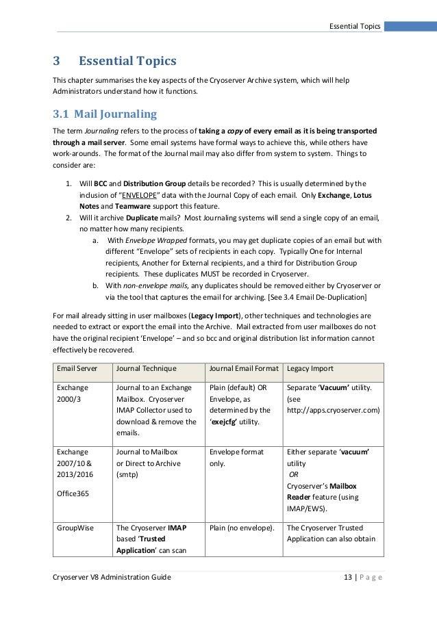 Cryoserver V8 Admin Guide
