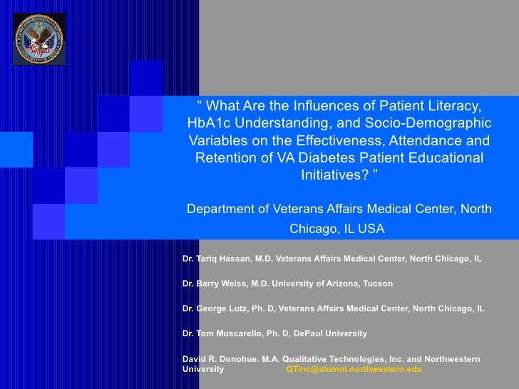 """""""  What Are the Influences of Patient Literacy, HbA1c Understanding, and Socio-Demographic Variables on the Effectiveness,..."""