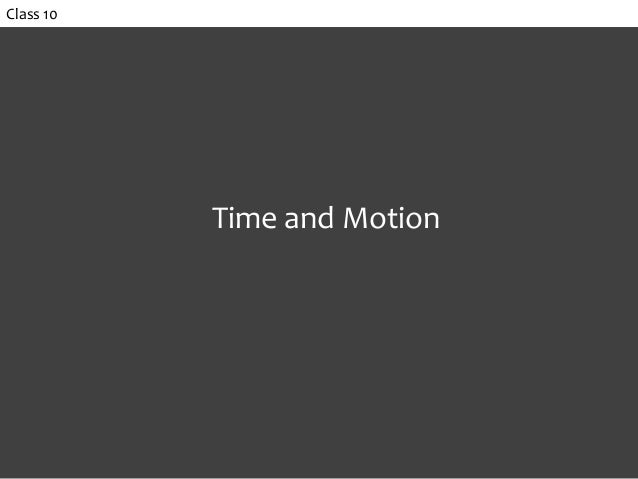 Class 10 Time and Motion