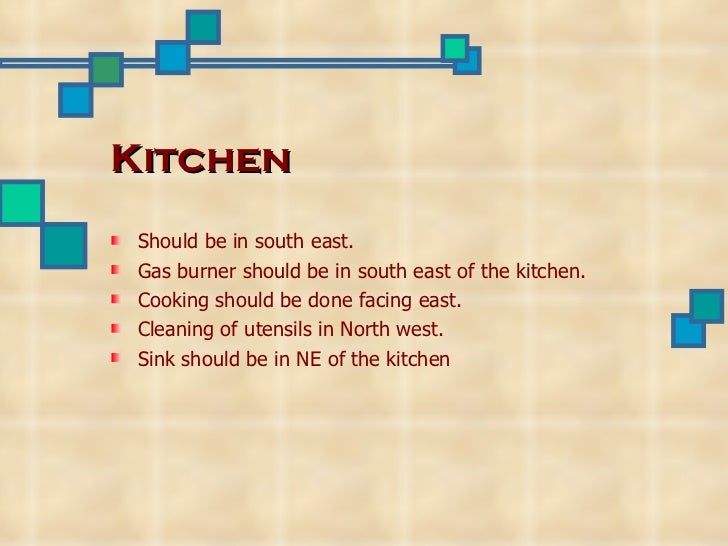 Kitchen Design According To Vastu vaastu principles and their importance-ppt