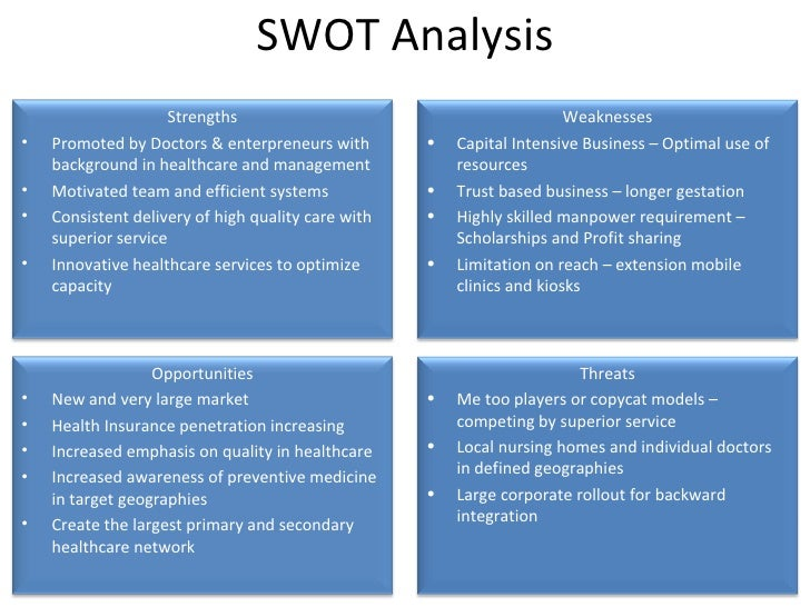 healthcare organization swot analysis Inova hospital system swot analysis the goal of the health system in the united states by carrying out a swot analysis, an organization is able to the inova hospital system is a health care organization and therefore a swot analysis is essential for it to be able to get their.