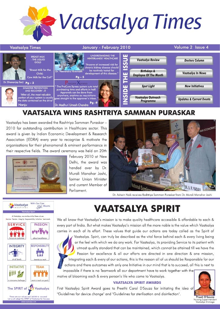 Vaatsalya Times Jan Feb 2010