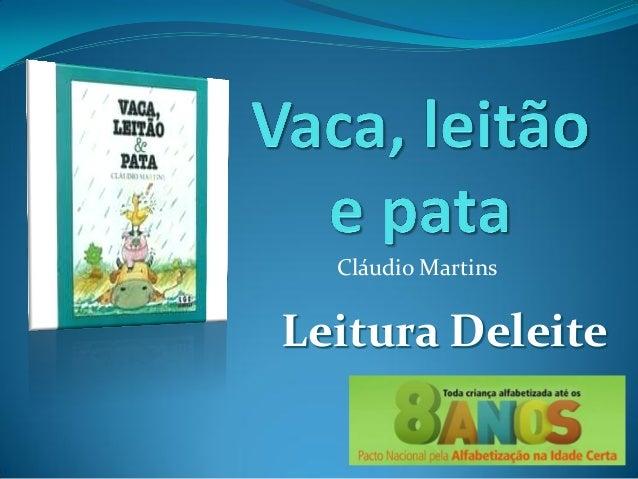 Cláudio MartinsLeitura Deleite
