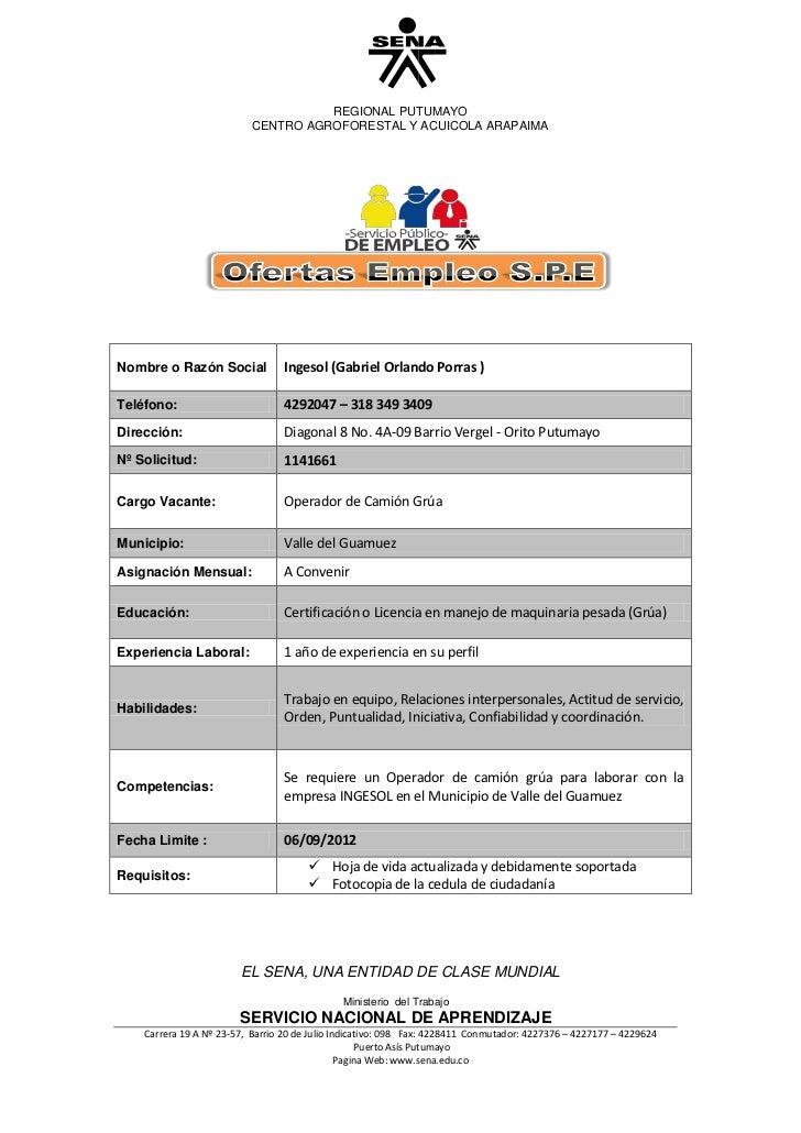 REGIONAL PUTUMAYO                           CENTRO AGROFORESTAL Y ACUICOLA ARAPAIMANombre o Razón Social            Ingeso...
